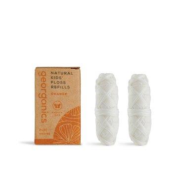 Georganics, Naturalna Nić Dentystyczna dla dzieci, Sweet Orange, 30mx2, REFILL GEORGANICS