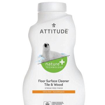 Attitude, Płyn do mycia podłóg (drewno i terakota) Skórka Cytrynowa (Citrus Zest), 1050 ml ATTITUDE