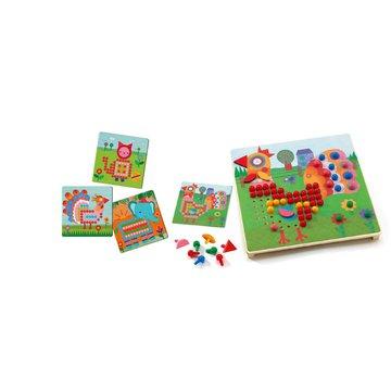 Djeco - Mozaika ANIMO-kolorowe obrazki DJ08137