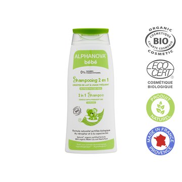 Alphanova Bebe, Delikatny szampon do włosów Bio, 200 ml ALPHANOVA BEBE