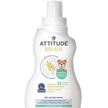 Attitude, Sensitive Skin Baby, Delikatny płyn zmiękczający do płukania tkanin dziecięcych, 1L ATTITUDE