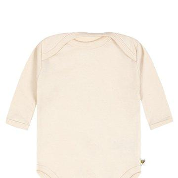 Nanaf Organic, BASIC, Body motylkowe z długim rękawem, naturalne WYPRZEDAŻ
