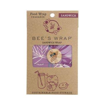 Bee's Wrap, Woskowana organiczna bawełna do zawijania kanapek, fioletowa, 33 x 33 cm, 1 szt. BEE'S WRAP
