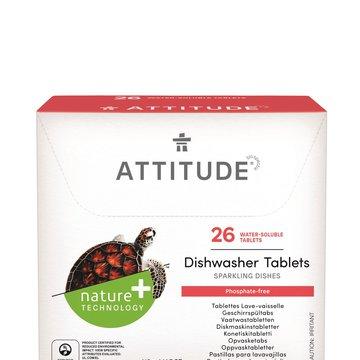 Attitude, Tabletki do zmywarki Rozpuszczalne saszetki (26 szt), 520 g ATTITUDE