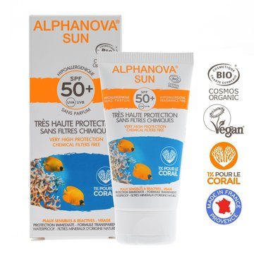 Alphanova Sun BIO Krem przeciwsłoneczny, hipoalergiczny, wodoodporny, filtr SPF50, 50g ALPHANOVA SUN