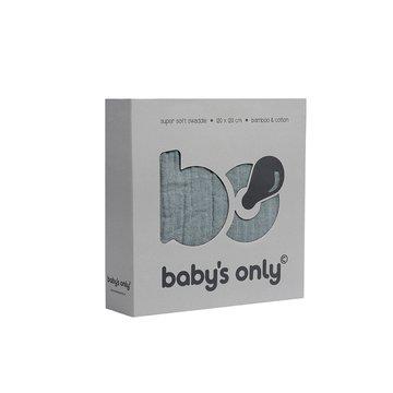 Baby's Only, PROMOCJA -50%, Otulacz bambusowy, kamienna zieleń, 120x120cm, WYPRZEDAŻ -50% BABY'S ONLY