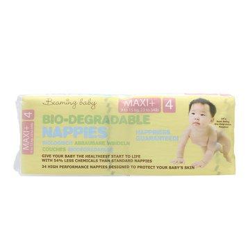 Beaming Baby, size 4, pieluszki Maxi Plus 9 - 15 kg, 34 szt. BEAMING BABY