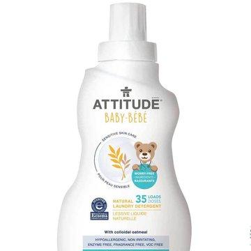 Attitude, Sensitive Skin Baby, Delikatny płyn do prania tkanin dziecięcych, 35 prań, 1L ATTITUDE