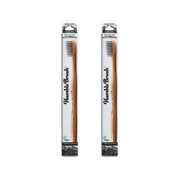 Humble Brush, Bambusowa szczoteczka do zębów dla dorosłych z włóknem węglowym, CHARCOAL HUMBLE BRUSH