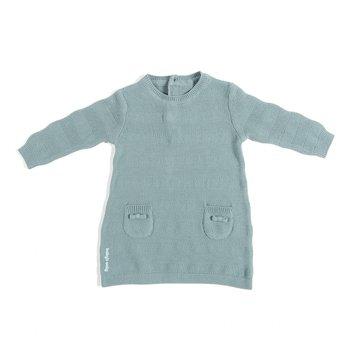 Baby's Only, Tkana sukienka w prążki, Kamienna Zieleń, rozmiar 56 SUPER PROMOCJA -50% BABY'S ONLY