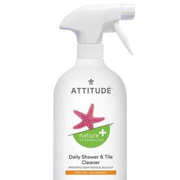 Attitude, Płyn do czyszczenia prysznica, Skórka Cytrynowa (Citrus Zest), 800 ml ATTITUDE