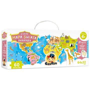 CzuCzu 6198378 Puzzle 60 el.Mapa świata