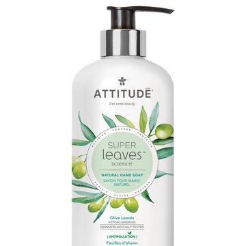 Attitude, Super Leaves, Mydło do rąk, Liście oliwki, 473ml ATTITUDE