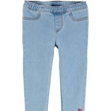 Carter's - Jegginsy denim serca cekiny - 110 cm