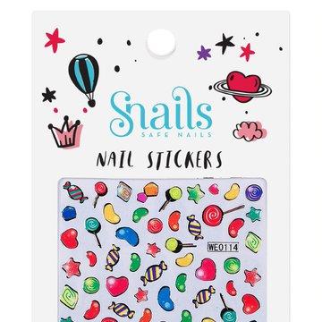 Snails, Naklejki na Paznokcie Candy Blast, dla dziewczynek SNAILS