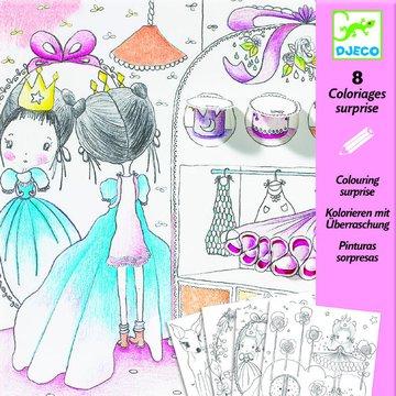 Djeco - Kolorowanka z niespodziank MALUTKIE DRZWI DJ09633