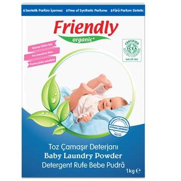 Friendly Organic, Proszek do prania ubranek dziecięcych, 1kg FRIENDLY ORGANIC