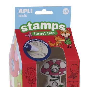 Stempelki z markerem Apli Kids - Las 3+