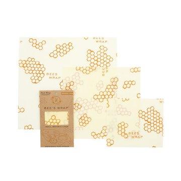 Bee's Wrap, Woskowana organiczna bawełna do zawijania, 3 szt., MIX S, M, L BEE'S WRAP