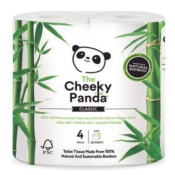 Cheeky Panda, Papier toaletowy, trzywarstwowy, 4 rolki