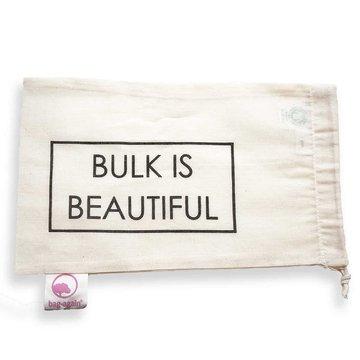 """Bag-again, Worek z organicznej bawełny z nadrukiem """"BULK IS BEAUTIFUL"""", 15 x 25 cm BAG-AGAIN"""