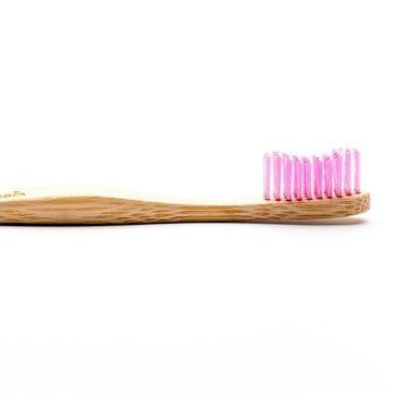 Humble Brush, Bambusowa szczoteczka do zębów dla dorosłych, Medium, fioletowa HUMBLE BRUSH