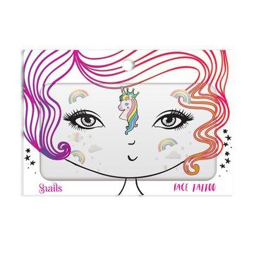 Naklejki na twarz Face Tattoo Snails - Unicorn