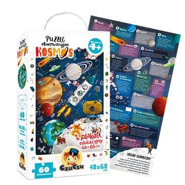 CzuCzu 6112660 Puzzle 60 el.Kosmos 4+