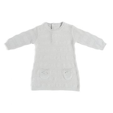 Baby's Only, Tkana sukienka w prążki, Jasnoszara, rozmiar 56 SUPER PROMOCJA -50% BABY'S ONLY