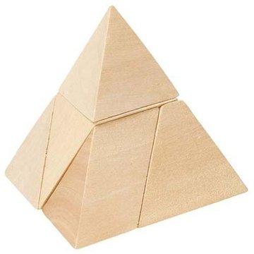 Goki® - Drewniany Trójkąt - układanka logiczna, Goki HS 108