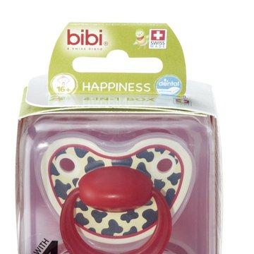 Bibi Swiss - Smoczek ortodontyczny uspokajający TIGER SWISS DUO/różowy+czerwony
