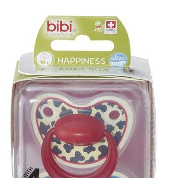 Bibi Swiss - Smoczek ortodontyczny uspokajający TIGER SWISS DUO/niebieski+czerwony
