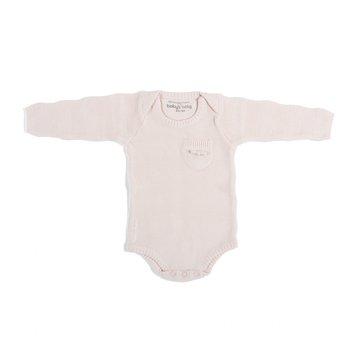 Baby's Only, Body tkane w prążki z długim rękawem, Różowe, rozmiar 56 SUPER PROMOCJA -50% BABY'S ONLY