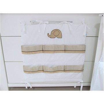 Przybornik do łóżeczka Savea; słonie beżowe; 60x60cm