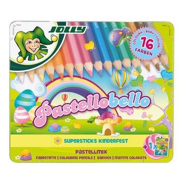 Jolly - Kredki Pastellobello 16 kolorów w metalowym pudełku
