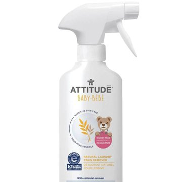 Attitude, Sensitive Skin Baby, Naturalny odplamiacz do tkanin w sprayu, 475ml ATTITUDE
