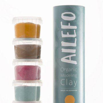 Ailefo, Organiczna Ciastolina, mała tuba, 5 kolorów po 100g AILEFO