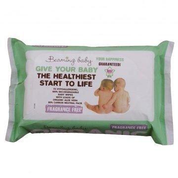 Beaming Baby, Organiczne Chusteczki Nawilżane BEZZAPACHOWE - do skóry bardzo delikatnej, 72 szt. BEAMING BABY