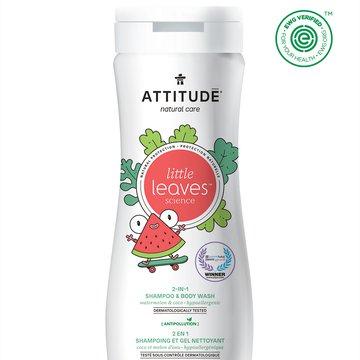 Attitude, Little Ones, Płyn do mycia i szampon 2w1, Arbuz i Kokos, 473 ml ATTITUDE