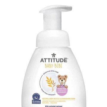 Attitude, Sensitive Skin Baby, Naturalna piana mydlana do mycia butelek i naczyń dla niemowląt, Bezzapachowa, 295 ml ATTITUDE