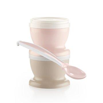 Pojemniki na jedzenie z łyżeczką Thermobaby; różowe