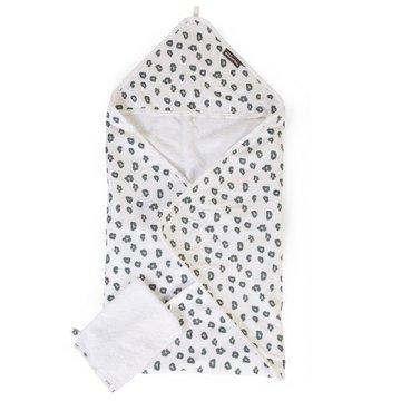 Childhome Ręcznik z kapturkiem + myjka Jersey Leopard CHILDHOME