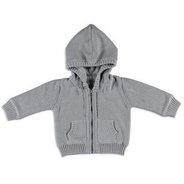 Baby's Only, Sweterek rozpinany z kapturem Jasnoszary, rozmiar 56 SUPER PROMOCJA -50% BABY'S ONLY
