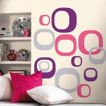 RoomMates. Nowoczesne formy - naklejki wielokrotnego użytku, WYPRZEDAŻ -50%