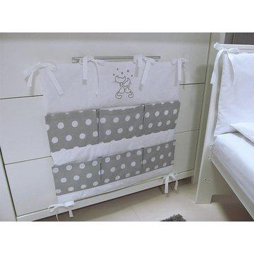 Przybornik do łóżeczka Savea; koty szare; 60x60cm
