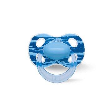 Bibi Swiss - Smoczek ortodontyczny uspokajający WILD BABY/niebieski (SIL) HAPPINESS