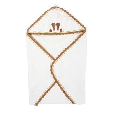 Childhome Ręcznik z kapturkiem + myjka Jersey Crochet CHILDHOME