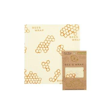 Bee's Wrap, Woskowana organiczna bawełna do zawijania, rozm. M 25 x 27,5cm BEE'S WRAP