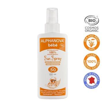 Alphanova Bebe Przeciwsloneczny Spray o wysokim filtrze SPF 50, 125g ALPHANOVA BEBE