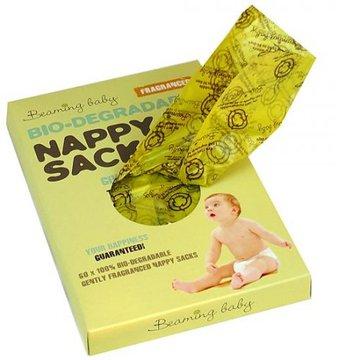 Beaming baby, Biodegradowalne Zapachowe Worki na Zużyte Pieluszki, 60szt. BEAMING BABY